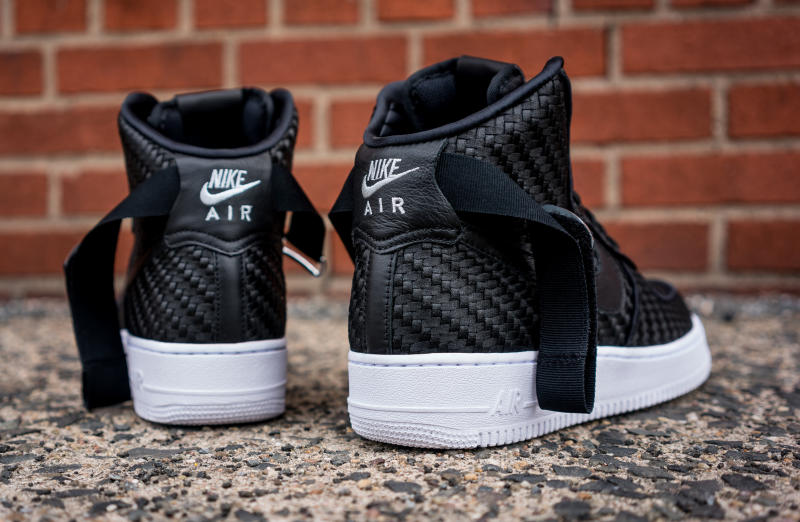 nike warriors air force one all black