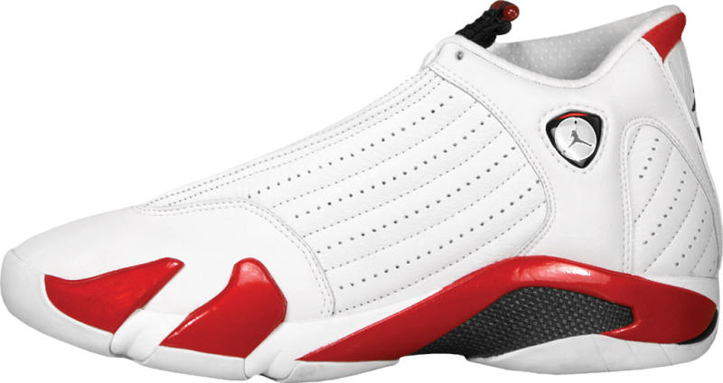 Air Jordan XIV Style Code: 136011-102. Colorway: White/Black-Varsity Red Release Date: 01/09/1999