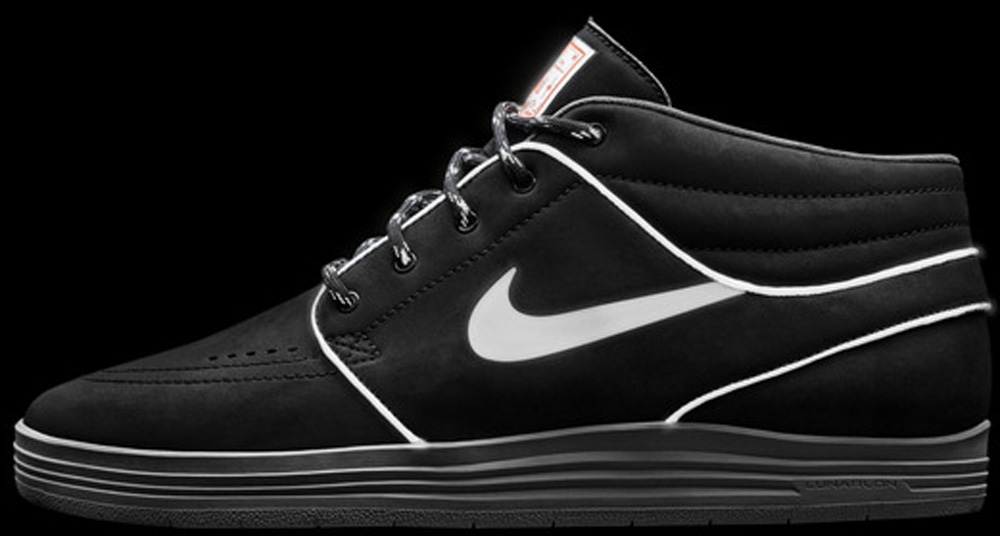 Nike Lunar Stefan Janoski Mid SB Black/Hyper Crimson/Medium Grey/Reflect Silver