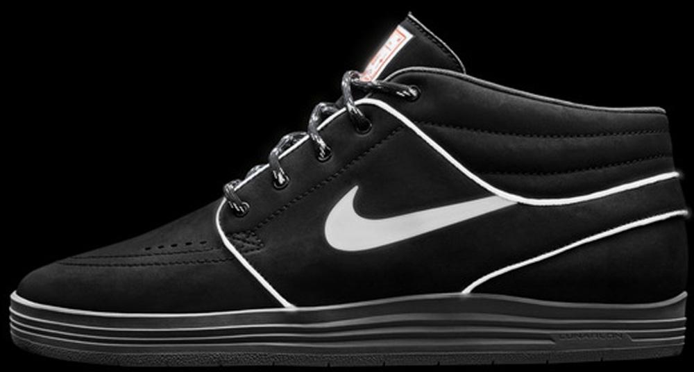 Nike Lunar Stefan Janoski Mid SB Black/Hyper Crimson/Medium Grey/Reflect Silver
