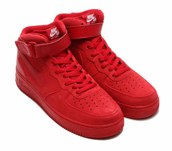 Nike Air Force 1 Mid All Red
