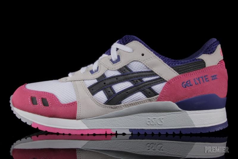asics gel lyte III pink white purple profile