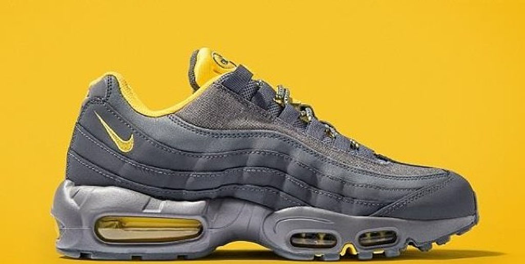 navy blue and yellow air max 95
