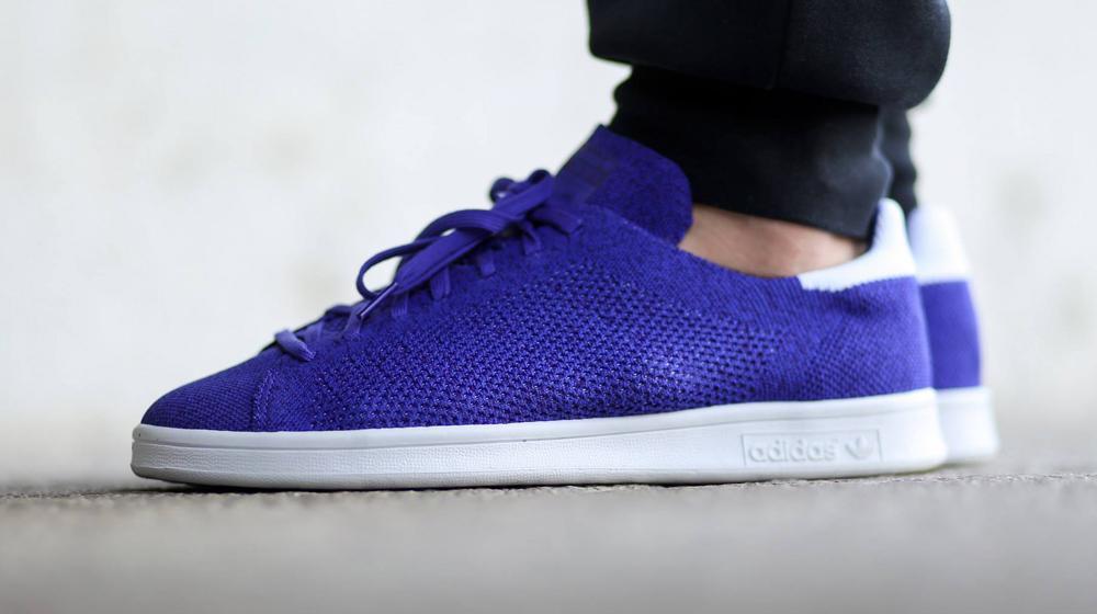 adidas primeknit stan smith blue
