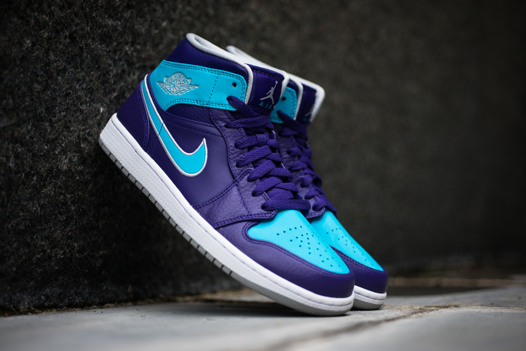 d7f3b64ab17 Air Jordan 1 Mid 'Hornets' - Court Purple / Gamma Blue | Sole Collector