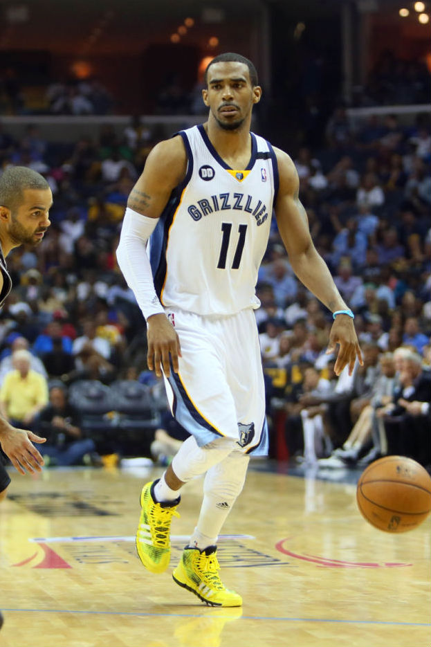 Mike Conley wearing adidas Crazyquick Electricity