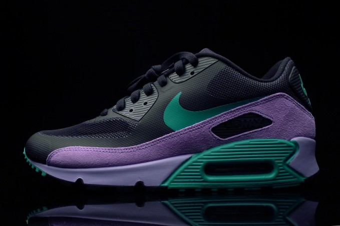 a78b4ae129 The Nike Air Max 90 Hyperfuse Premium in Black / Stadium Green / Medium  Violet is available now at select Nike Sportswear retailers, including  online at ...