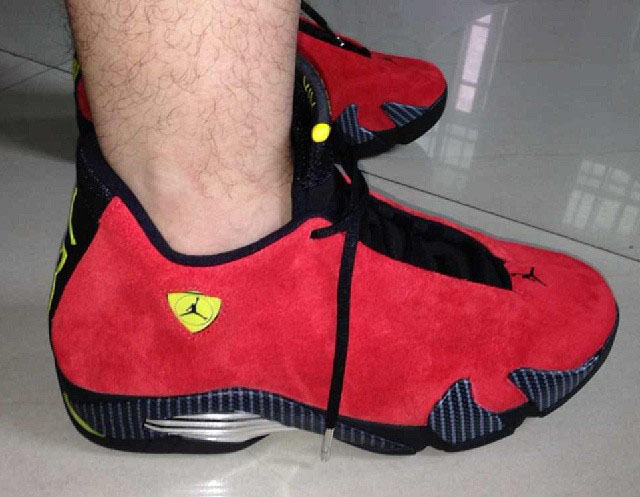 Air Jordan 14 XIV Red Suede (10)