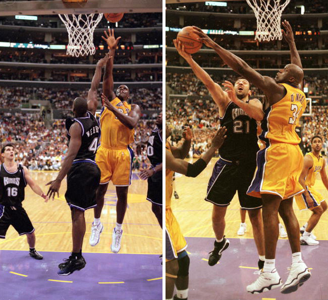 Shaq's 10 Best Games as a Laker // April 23, 2000 vs. Sacramento Kings - Dunk.net Chromz