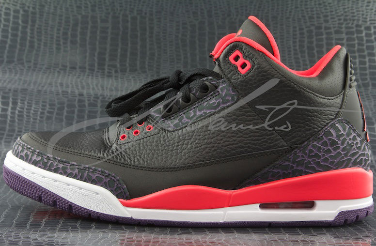 8ce34f3c48667c Air Jordan III 3 Black Crimson 136064-005 (1)