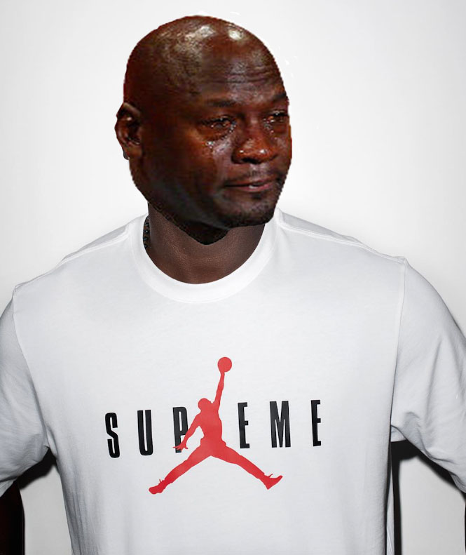 Best Michael Jordan Crying Sneaker Memes: Supreme