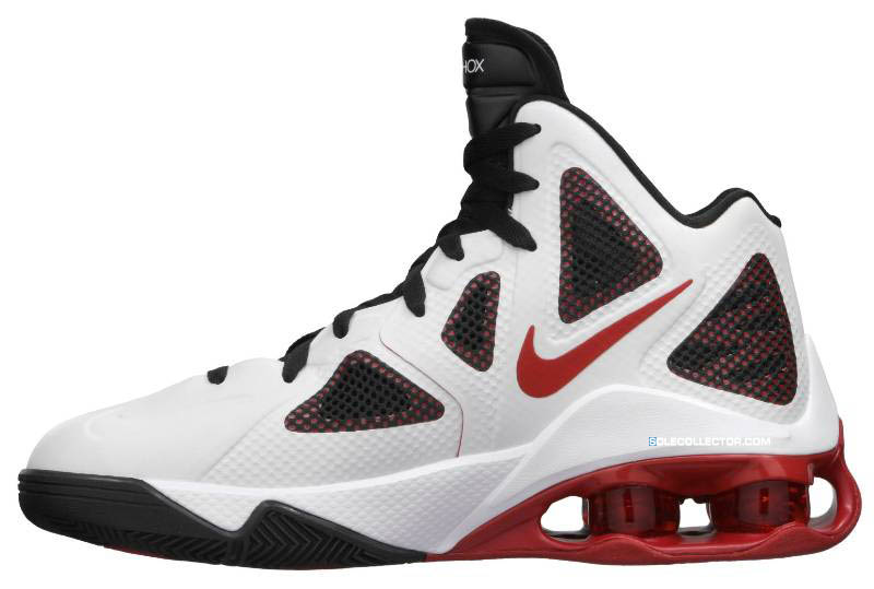 Nike Air Shox Hyperballer White Sport Red Black 454154-101 4ce885015