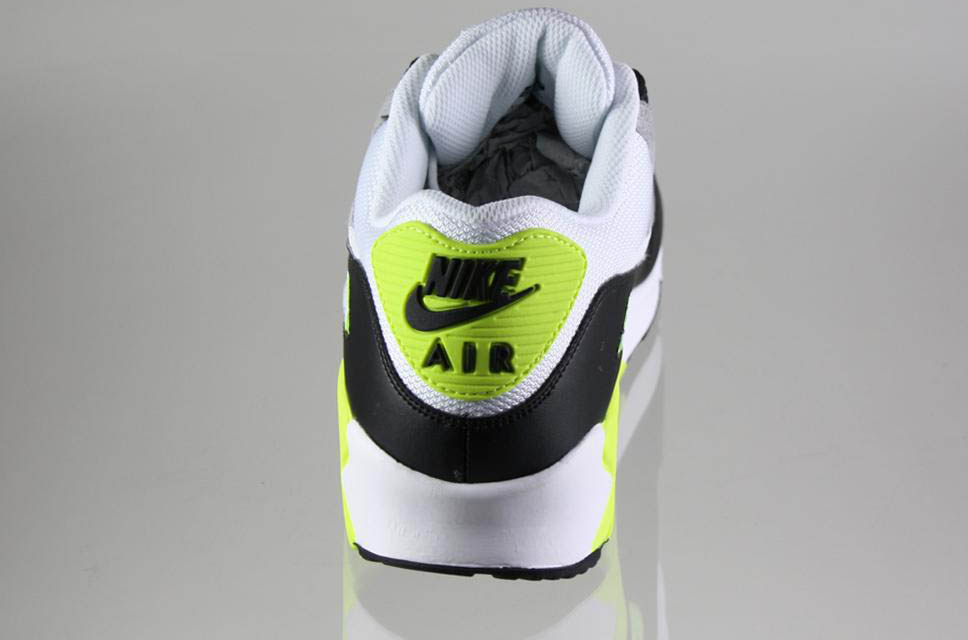 Nike Air Max 90 Black White Medium Grey Volt 325018-048 (4)