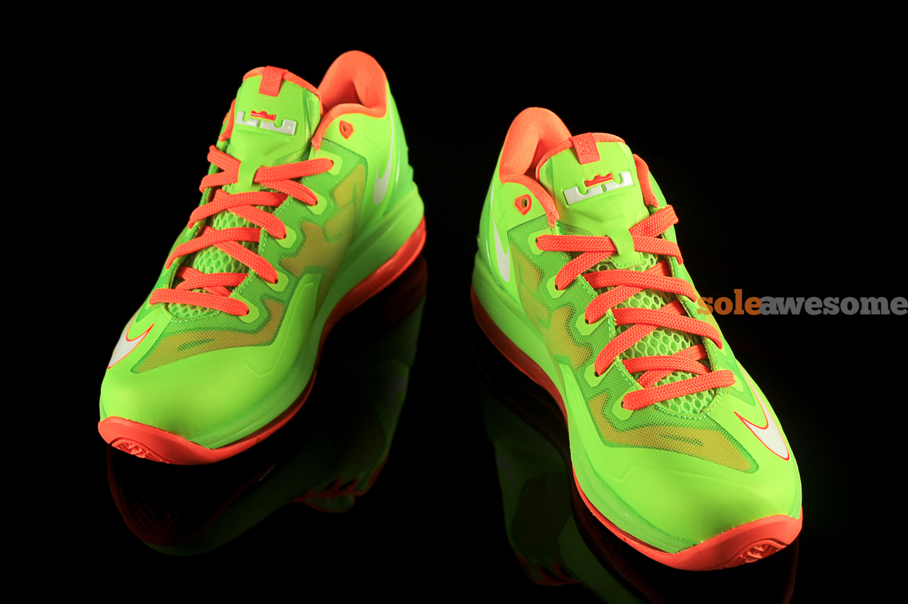 68f46e7b5bdc UPDATE  Nike LeBron XI Low GS - Volt Bright Orange - On-Foot Images ...