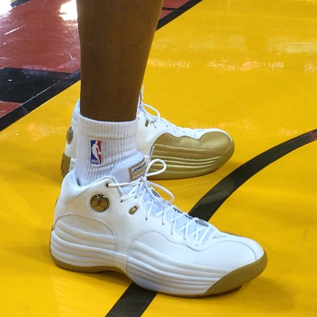 Ray Allen wearing Jordan Jumpman Team 1 Finals PE