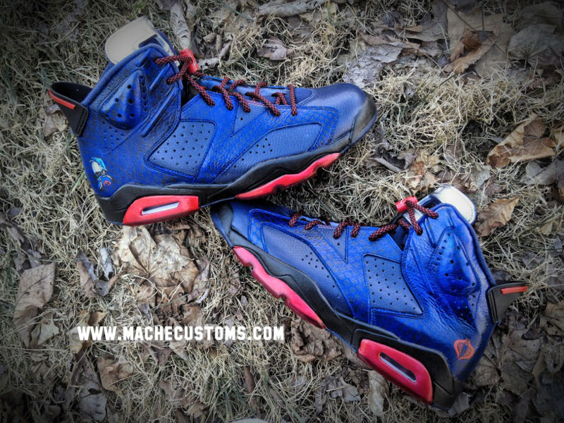 Air Jordan VI 6 Cobra Commander by Mache Custom Kicks (3)