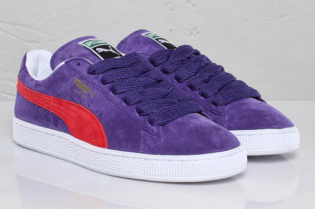 puma suede purple red