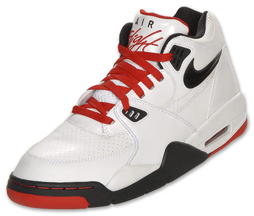 low priced e1fc6 e7a75 Nike Air Flight 89 White Black Sport Red 306252-107 (3)