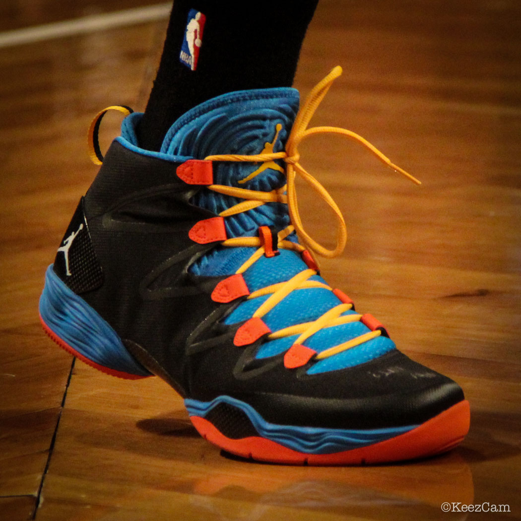 Russell Westbrook wearing Air Jordan XX8 SE PE