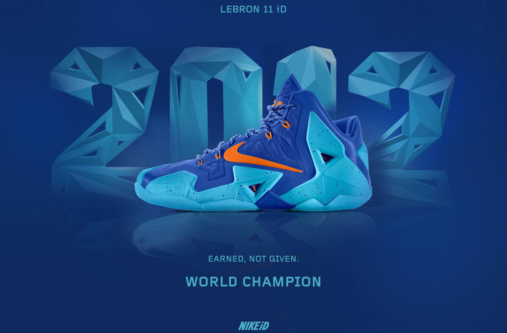 NIKEiD Concept // LeBron 11 'World Champion' 2012 (1)