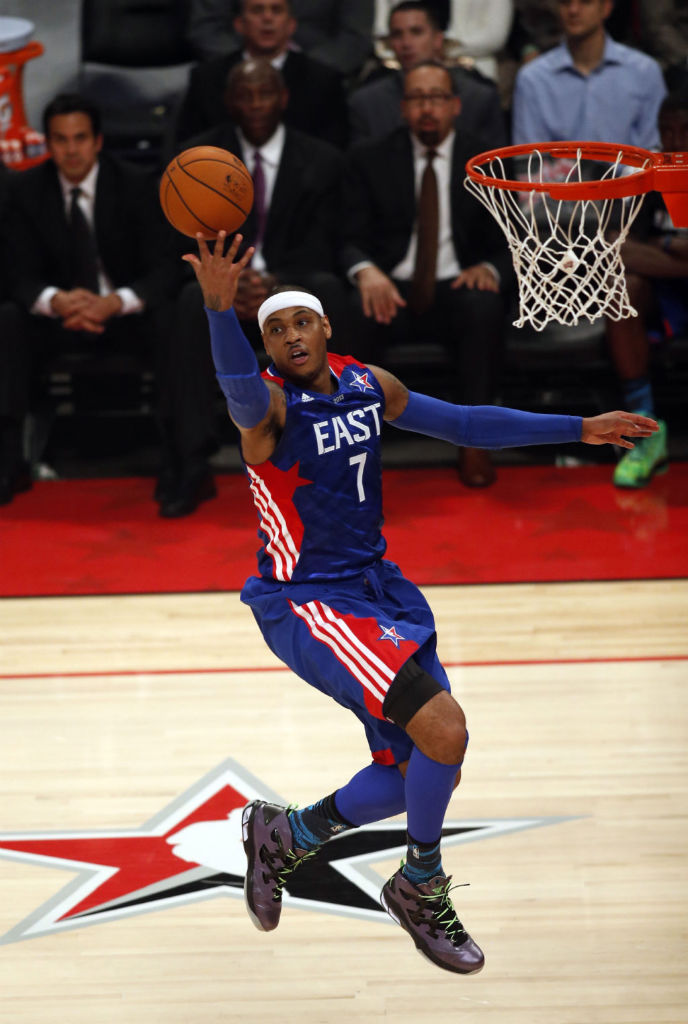 Carmelo Anthony wearing Jordan Melo M9 All-Star Stealth (1)