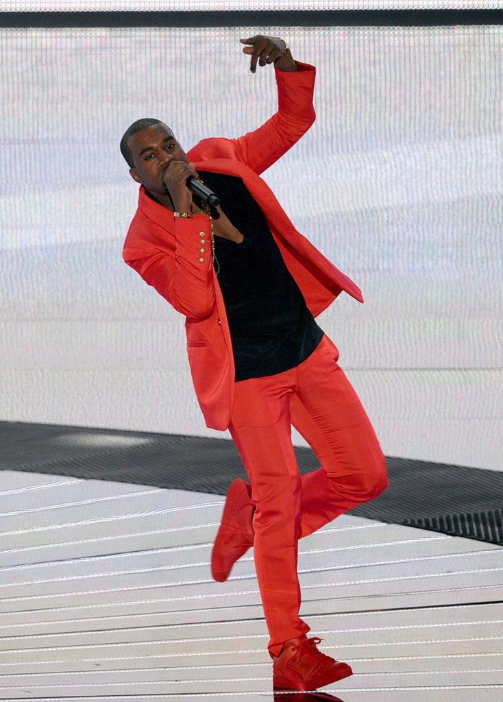 Kanye West wearing Kanye West x Louis Vuitton Don