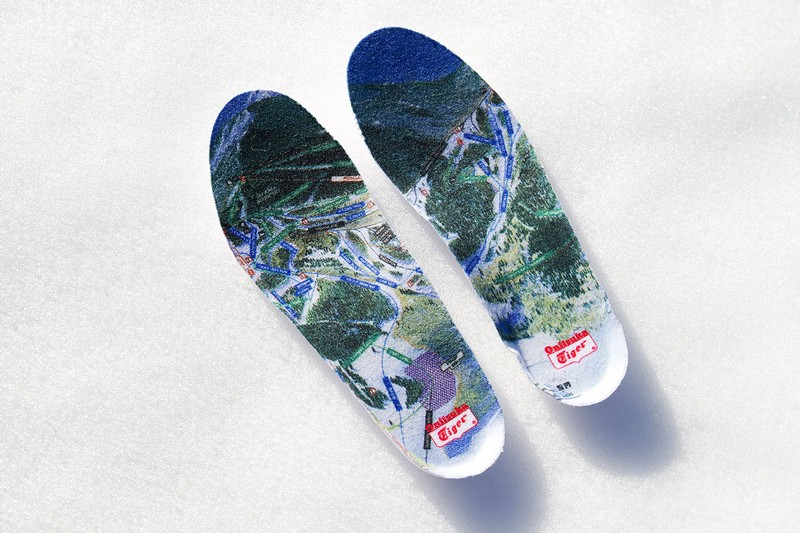 Onitsuka Tiger x BAIT by Akomplice 6200 FT sockliner ski lift graphic
