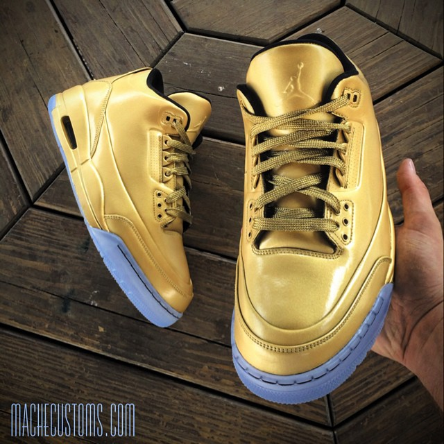 Air Jordan III 3 Gold by Mache Custom Kicks (2)