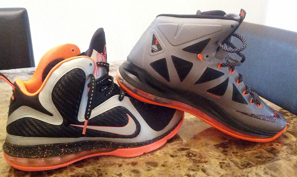 Nike LeBron X 10 Silver Black Orange Mango (16)