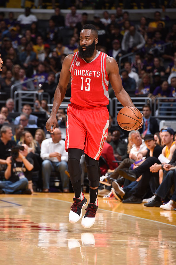 66242ed256c James Harden Wearing the Pioneer Adidas Harden Vol. 1 (1)