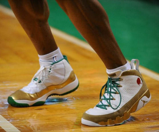 Ray Allen Wears Size 15 Jordan Shoes (1)