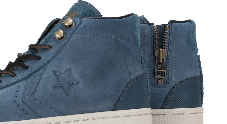 Converse First String Pro Leather Zip medial zipper detail