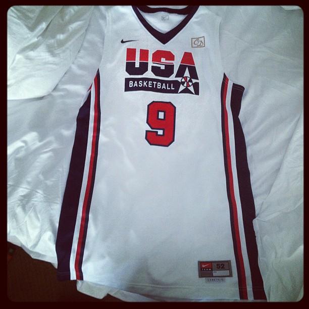 pretty nice 3a32c f612f Team USA Wearing Throwback 1992 Dream Team Uniforms Today ...