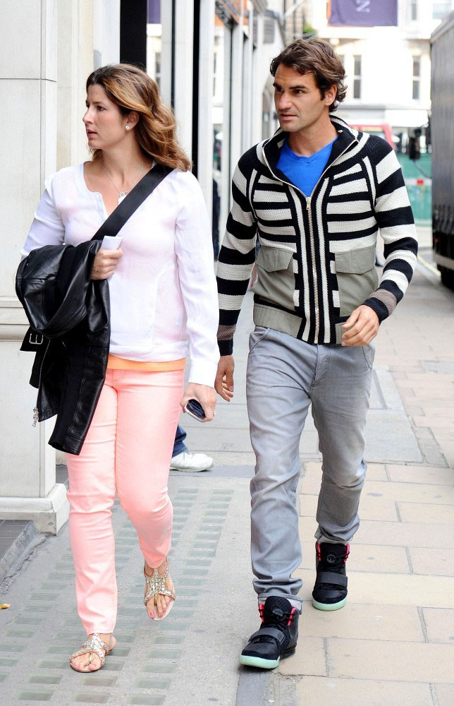 Roger Federer Wears the Nike Air Yeezy 2 (3)