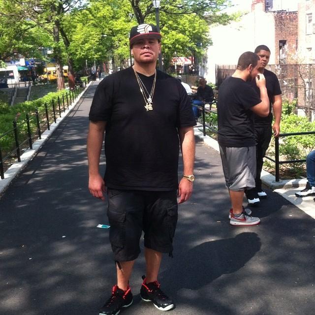 299c3a0acb5 Fat Joe wearing Nike Air Foamposite Pro Yeezy