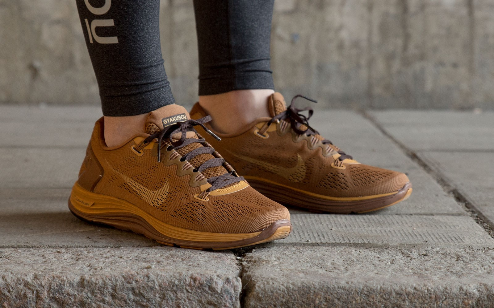 Nike x Undercover GYAKUSOU LunarGlide+ 5 JP in Flat Stout Bronze and Ale Brown