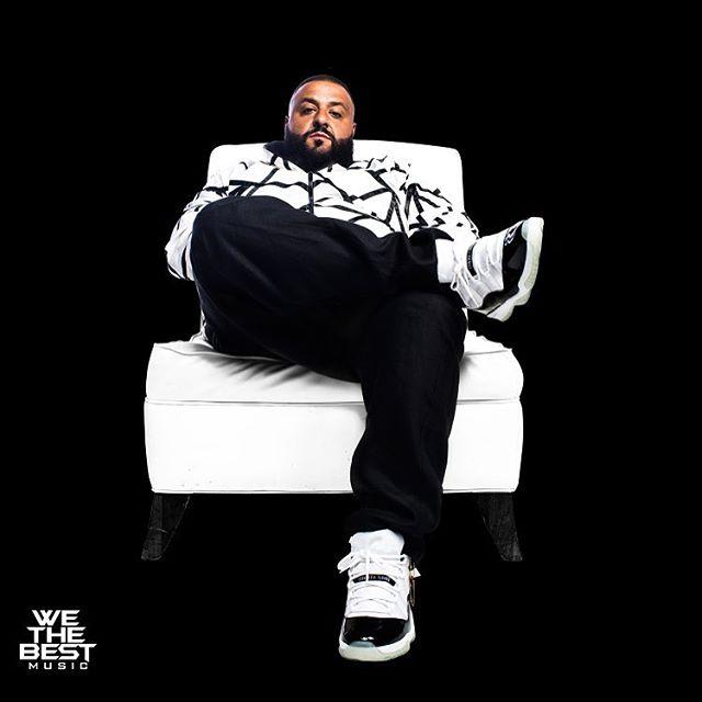 881f6b10c77a DJ Khaled wearing the  Concord  Air Jordan 11