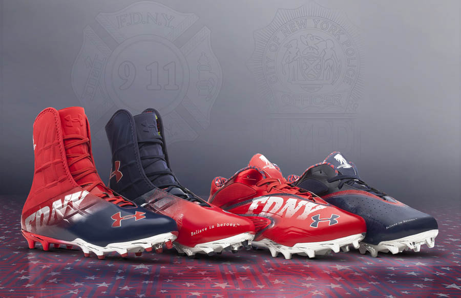 46ee5cebef0 Bid On Under Armour s Signed Commemorative 9 11 Football Cleats ...
