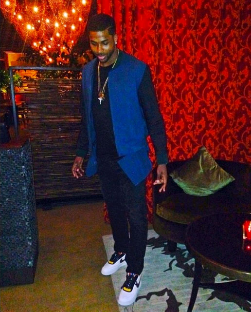 Tristan Thompson wearing Nike Air Force 1 RT