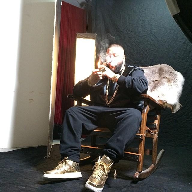 DJ Khaled Wearing Nike Lunar Force 1 Liquid Gold