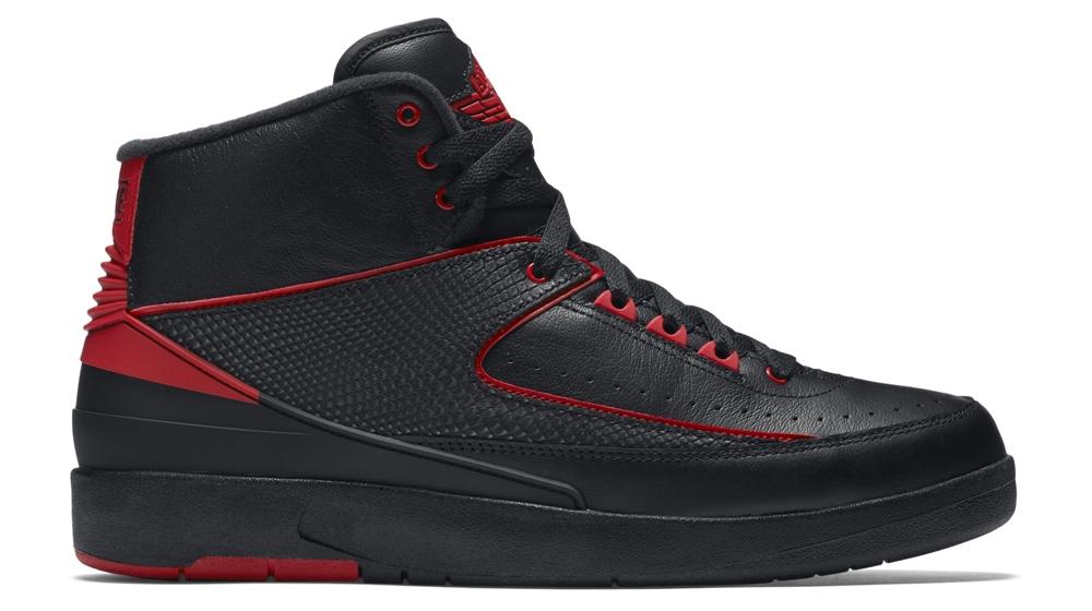 Air Jordan 2 Retro Black/Gym Red-Black