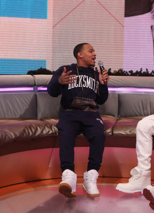 Bow Wow wearing Ewing 33 Hi White/Gum