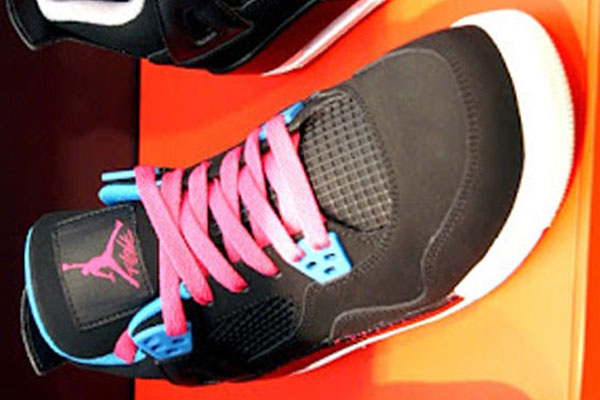c294159b01cab2 Air Jordan 4 Retro GS - Black Dynamic Blue-Vivid Pink