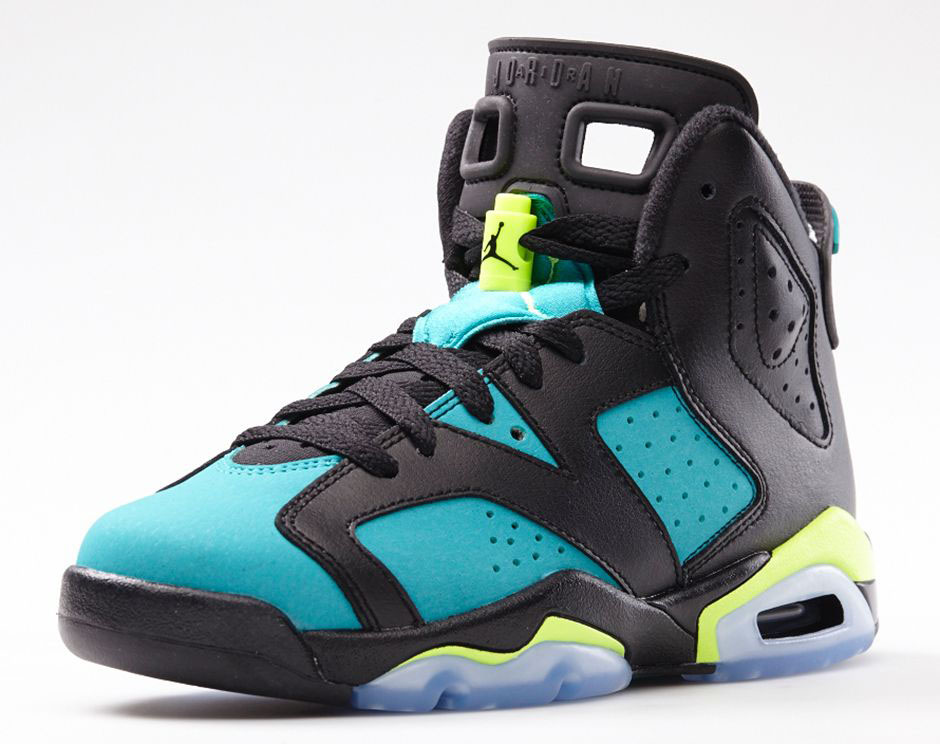 Air Jordan VI 6 GS Turbo Green 543390-043 (3)