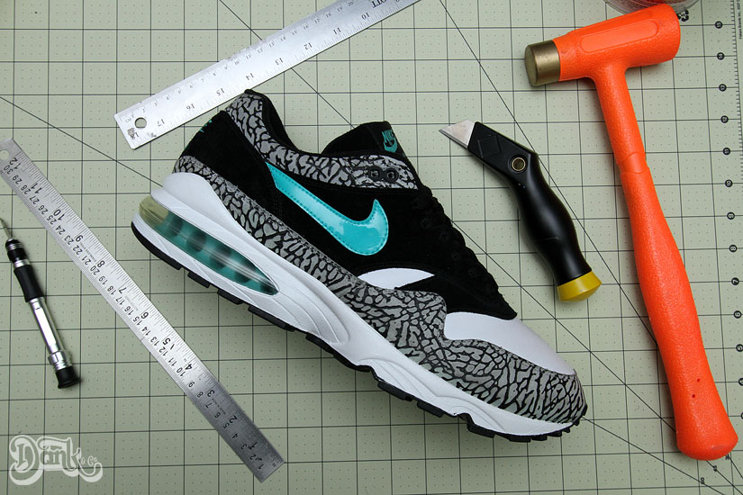 Nike Air Max 1 Burst 'atmos' Hybrid by Dank Customs