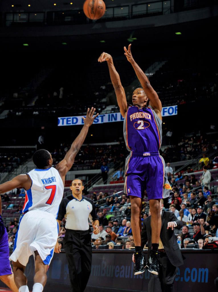 Wesley Johnson wearing adidas adizero Ghost 2
