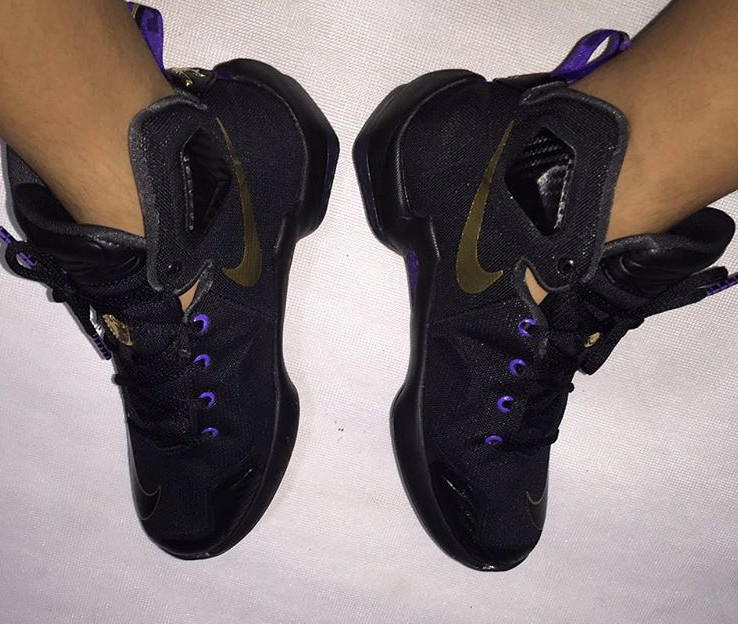 the latest 7b688 79015 ... BlackPurple-Gold This Nike LeBron 13 Isnt For History Sole Collector ...