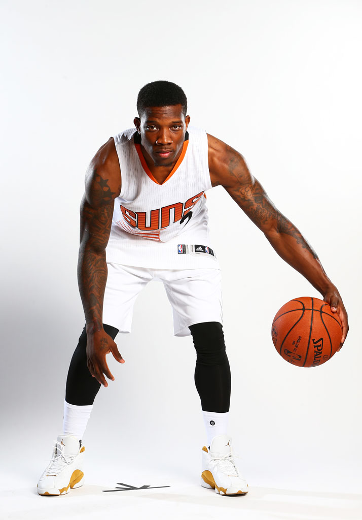 Eric Bledsoe wearing the 'Wheat' Air Jordan 13