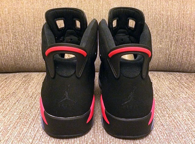 Air Jordan VI 6 Black/Infrared (4)