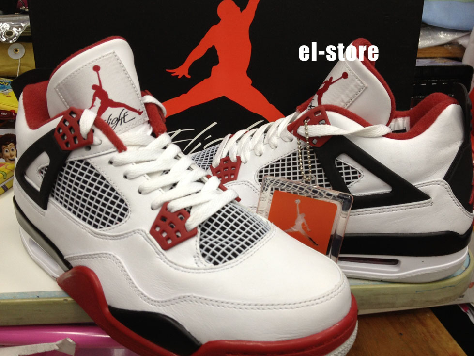 air jordan 4 retro fire red (2012) the dark